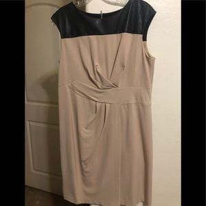 Chico's faux leather sleeveless dress